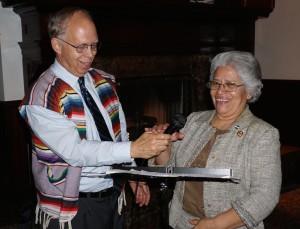 Ted Parsons with Virginia Cruz at the Bilingue 40th Anniversary.